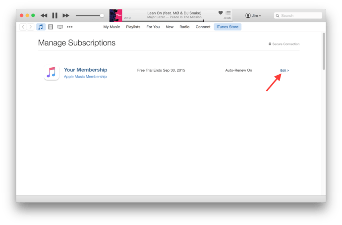 Cancel Apple Music Subscription in iPhone, iPad